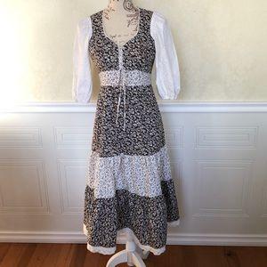 Vintage Boho Prairie Maxi Dress